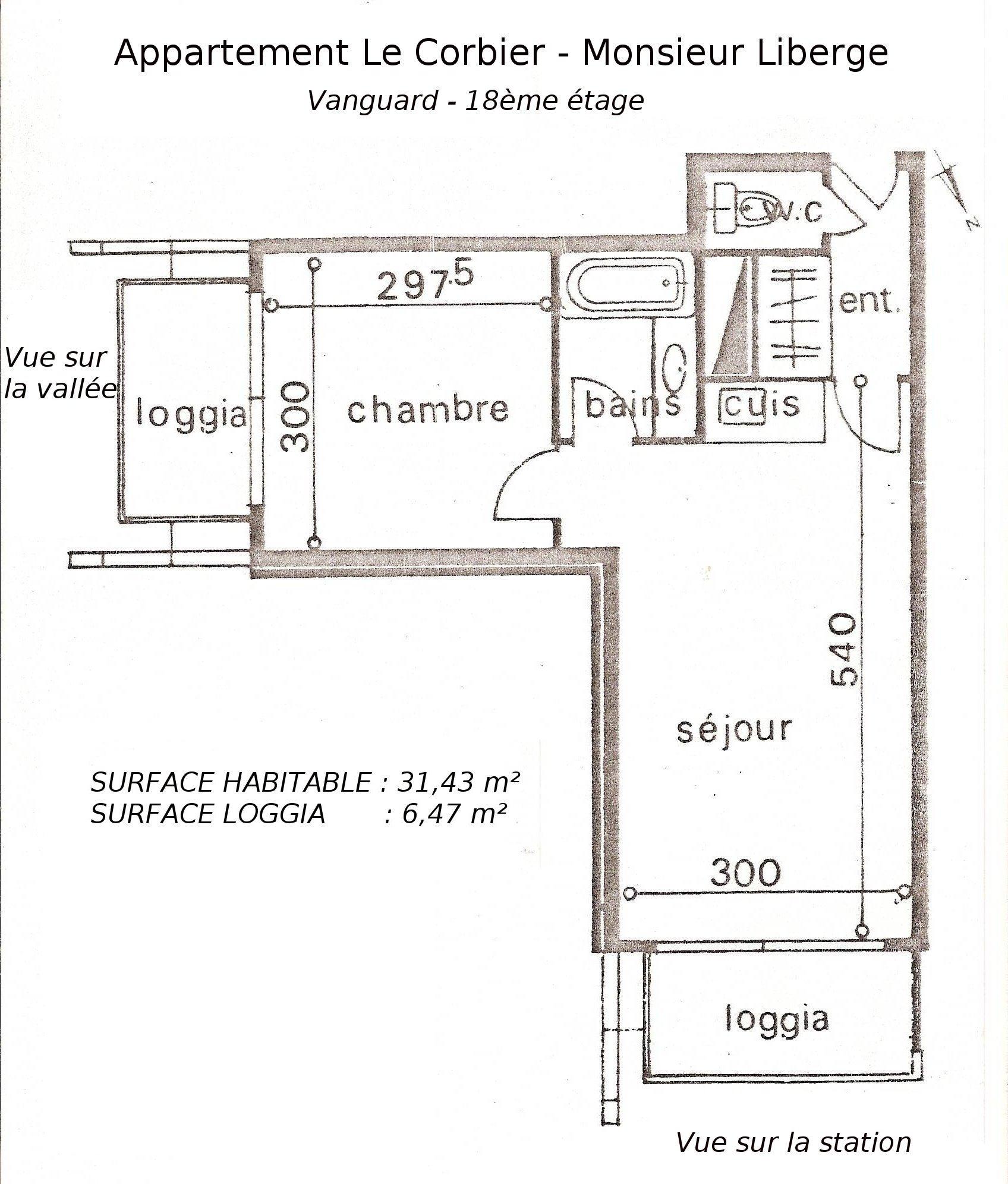 plan appartement le corbier